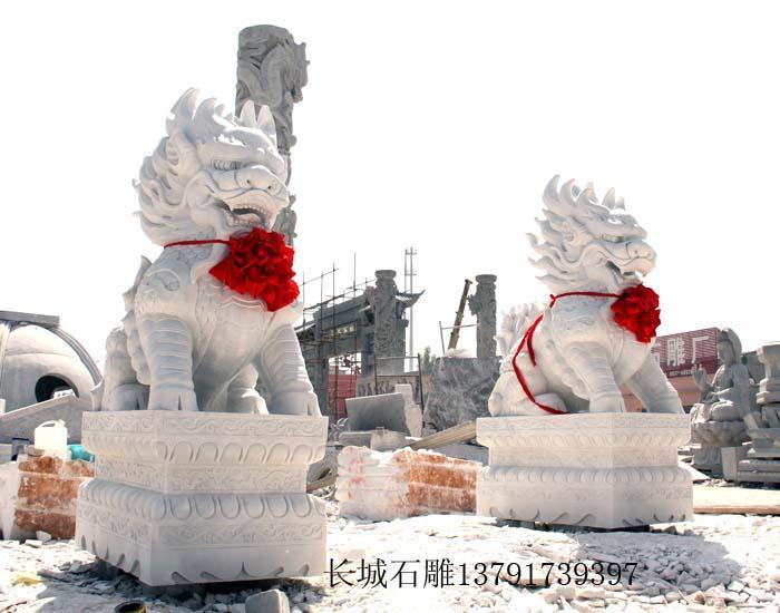 汉白玉麒麟雕刻图片