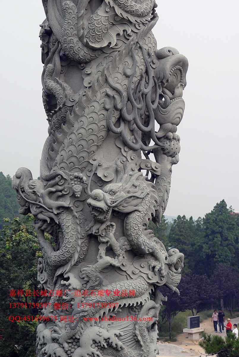 广场龙柱,大殿龙柱,上海龙柱