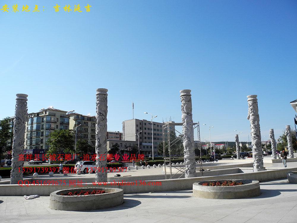 风景区,小区石雕龙柱图片