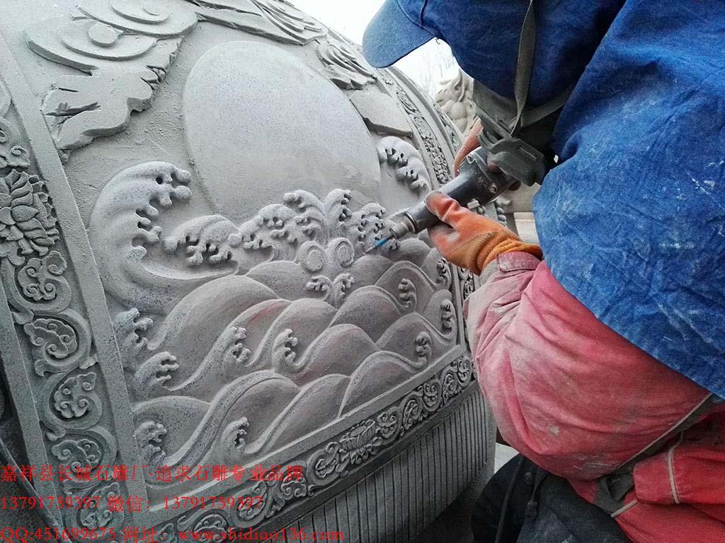 大象雕刻浮雕图片