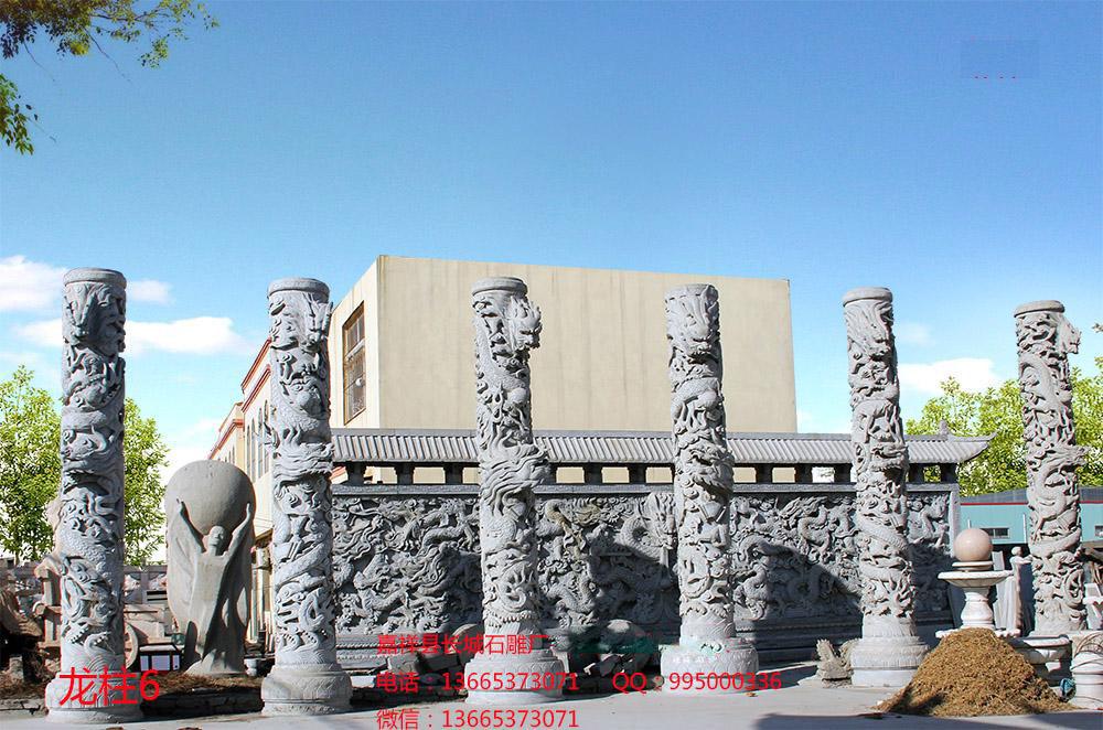 石雕龙柱雕刻样式图片
